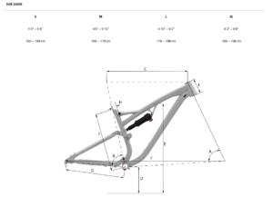 Whyte T-140C RS v1 Geometri